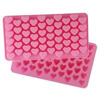 Silicone 55 Heart Cake Chocolate Cookies Baking Mould DIY Ice Cube Mold Tray SG