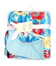 BLUE Soft Fleece New Born Baby Wrap Blanket Cosy Warm Cot Pram Cover 0-12m UK