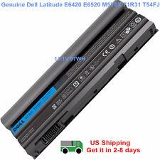 97WH Genuine T54FJ E6420 Battery For Dell Latitude M5Y0X E5420 E6430 E6520 8858X
