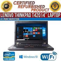 "C Grade Lenovo ThinkPad T420 14"" Intel i5 4 GB RAM 320 GB HDD Win 10 WiFi Laptop"