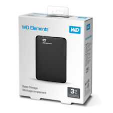 "HARD DISK ESTERNO 2,5"" WD ELEMENTS WESTERN DIGITAL 3TB USB 3.0 WDBU6Y0030BBK"