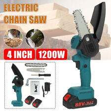 1200W Mini One-Hand Saw Woodworking Electric Chain Saw Wood Cutter UK Cordless