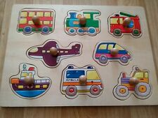 Children's Wooden Vehicles/Transport Puzzles