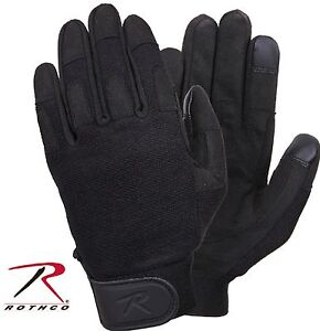 Rothco Touch Screen All Purpose Duty Gloves - Black Lightweight Tactical Glove