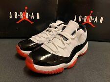 Nike Air Jordan Retro 11 XI Low Concord Bred White Red Black AV2187-160 Size 9