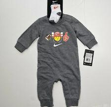 Nike Bebé Mono y Mameluco Ventilador De Fútbol Calcetines Set emoji traje 3M 6M 9M