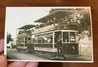 Vintage RPPC Hobart Municipal Tramways Tasmania RPPC Real Photo Post Card