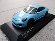 Porsche 911 991 R 2016 Bleu gulfblue LIMITÉE 480 ST Minichamps Voiture Miniature 1:43