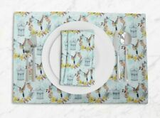 S4Sassy Cage & Humming Bird Placemats & Napkins Table Decor Dining Mats-BRD-23A