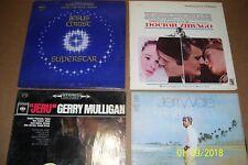 4 Vintage LP Record Albums Jesus Christ Superstar Dr Zhivago G Mulligan J Vale