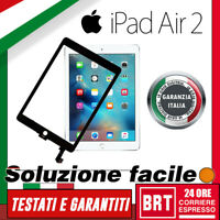 TOUCH SCREEN+VETRO ORIGINALE PER APPLE IPAD 6 AIR 2 WIFI 3G A1566 A1567 SCHERMO!