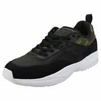 DC Shoes E.tribeka Se Mens Black Camouflage Leather & Synthetic Skate Trainers