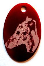 médaille gravée alu portrait  chien  moyen ou grand 5 couleurs