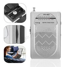 Mini Pocket Travel AM/FM Radio Telescopic Antenna World Receiver Earphones