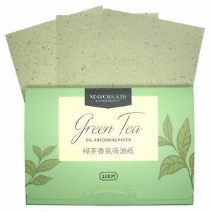 Oil Control Paper 100 Sheets Blotting Absorbing Wipe Anti Shine Face Green Tea