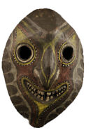 Masque d'esprit kwoma, papouasie nouvelle guinée, art tribal papou