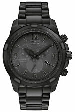 Citizen AT2265-50H Eco-Drive Black IP Stainless-Steel Chronograph