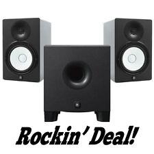 Yamaha HS5 Studio Monitor Speaker PAIR w/ HS8S Subwoofer HS-5 + Hs-8s Sub Bundle