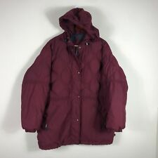 WoolRich Down Jacket Women's Medium Red Quilted Down Puffer Parka