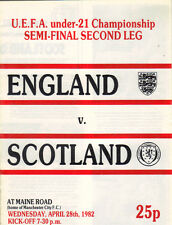 England v Scotland 1981/82 UEFA U21 Championship semi final 2nd leg