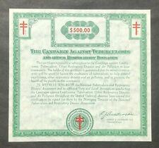 $500.00 Vintage Christmas Seal Bond, Mint, Crisp & Unfolded