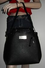 DKNY SAFFIANO LEATHER WITH ZIP CROSSBODY SHOULDER CONVERTIBLE TOTE BAG PURSE