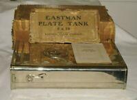 Kodak 8x10  Film  Plate Steel Developing Tank With 12 Plate Adjustable Rack 1908