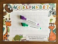 A4 My Alphabet Child Writing Trace Practice Learn Whiteboard Fridge Magnet +GPu