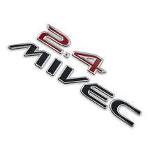 "Badge Emblem Logo ""2.4 MIVEC"" Red Trim Fits Mitsubishi Space Wagon 2004 2010 12"
