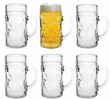6 Masskrüge aus Glas Literkrüge Bierkrüge 1L Mass DHL Sofortversand ab Großlager