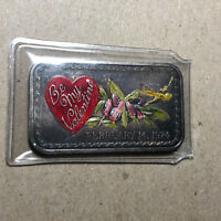 1974 Be My Valentine Madison Mint 1 Ounce .999 Silver Art Bar