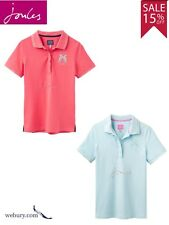 Joules Ladies Cool Blue Amity Polo Shirt With Embroidered Detail Size 8-18 14