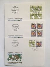 Enveloppes FDC timbres suisses YT CH 1364/65, Zum CH 791/92. Lapin Effraie