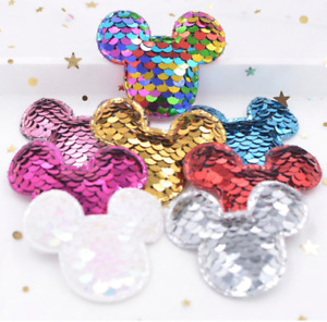 Disney's Mickey Mouse Sequinned Sew On Patch - Embroidery Patches