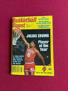 """1981, Julius (DR.J.) Erving, """"Autographed"""" (JSA) """"Basketball Digest """" Magazine"""