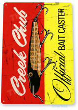 Creek Chub Fishing Sign, Bait, Lure, Tackle, Fish, Tin Sign B404