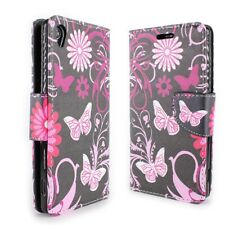 CoverON® for Sony Xperia Z3 Wallet Case - Pink Butterfly Credit Card Folio Cover