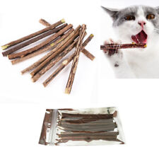 10 Cat Chew Stick Toy Teeth Dental Cleaning Molar Silvervine Matatabi Cats Kitty