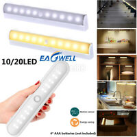 10/20LED Wireless PIR Auto Motion Sensor Infrared Night Light Cabinet Stair Lamp