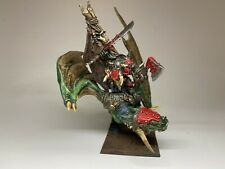 Warhammer Orcs and Goblins - Azhag the Slaughterer on Wyvern - Metal RARE