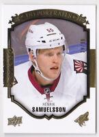 15-16 Upper Deck Henrik Samuelsson /99 GOLD Rookie UD Portraits Rookies 2015
