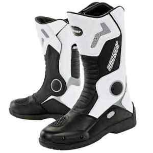 Joe Rocket White Ballistic Water Resistant Mens Motorcycle Touring Boots