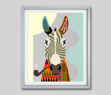 Poster Art Print Donkey Wall Decor Farm & Countryside Animal  Painting 8x10