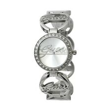 New Authentic Guess w95083l1 SILVER TONE Stainless-Steel BRACELET  Watch  NWT