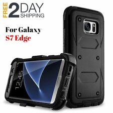 Samsung Galaxy S7 Edge Case Cover Rugged Holster Shockproof With Belt Clip BLACK