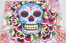 Carissa Rose-SUGAR SKULL-Skull Art -Day of the Dead Imagery 14x11 Offset Litho