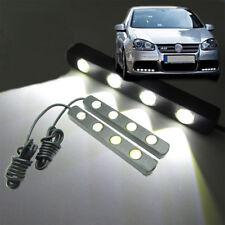 2 x White Car Daytime Running Fog LED Light 4W 4-LED 11cm Eagle Eye Bar DRL