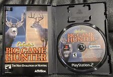 CABELA'S BIG GAME HUNTER  Playstation 2 PS2 Complete with Game Manual and Disc