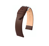 17MM Hirsch Italocalf Genuine Leather Watch Band Strap Brown Leather (Large)