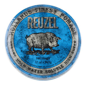 Reuzel Blue Pomade Strong Hold Water Soluble 12 oz. Hair Wax & Pomade